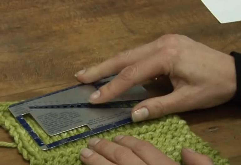 how to read knitting gauge