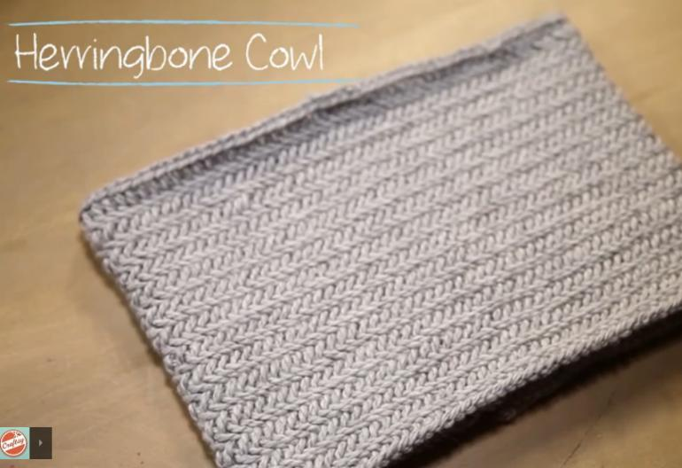 How To Knit A Herringbone Cowl In 1 Hour Knitting Women
