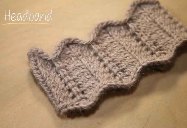 How To Knit A Lace Winter Headband In 1 Hour Knitting Women