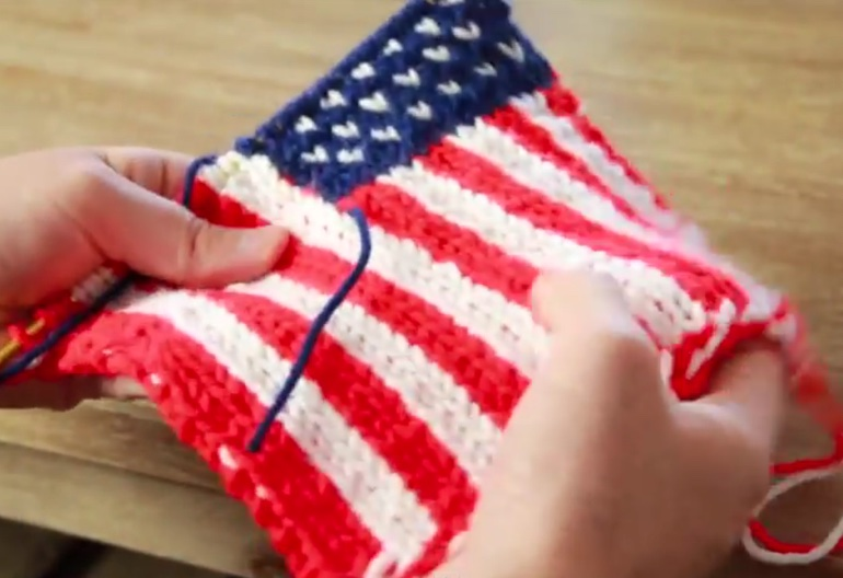 Knitting Pattern Us Flag : How to Knit an American Flag Knitting Women