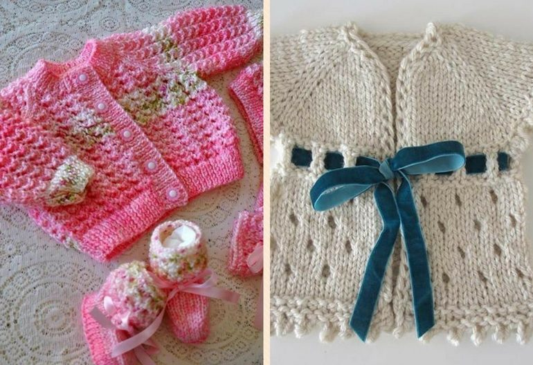 0a688be42b783 45+ Free Baby Cardigan Knitting Patterns