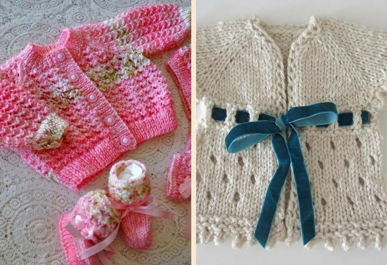 45+ Free Baby Cardigan Knitting Patterns | Knitting Women