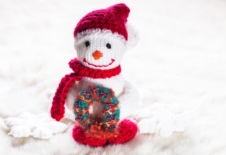 Quick Knits Free Pattern : Free Christmas Wreath and Snowman Knitting Patterns Knitting Women