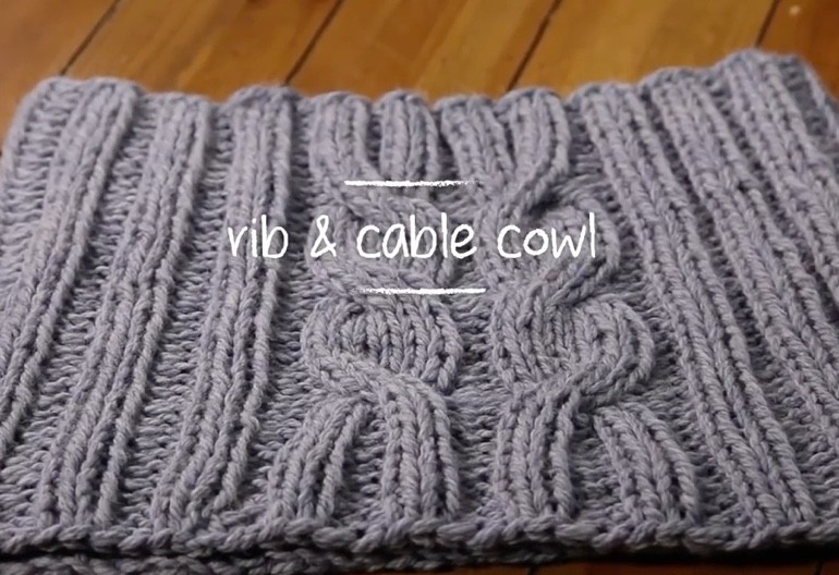 Knitting Pattern Cable Knit Cowl Vest : How to Knit a Rib & Cable Cowl (in 1 Hour!) Knitting Women