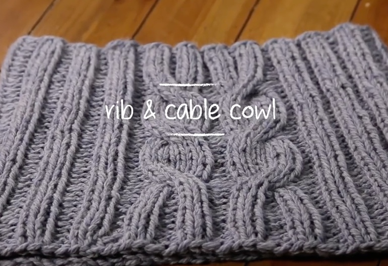 How To Knit A Rib Cable Cowl In 1 Hour Knitting Women