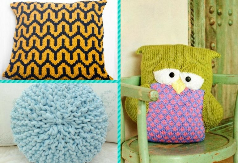 6 favorite pillow cover knitting patterns