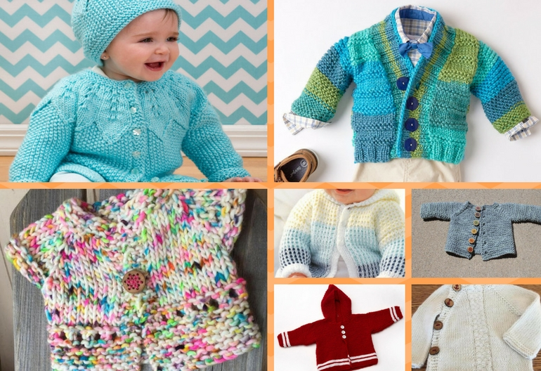 7 Adorable Baby Cardigan Knitting Patterns (Free!) | Knitting Women