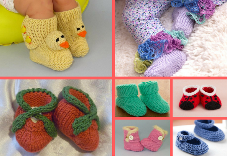 The Cutest Ever Baby Booties! 11 Free Knitting Patterns Knitting Women