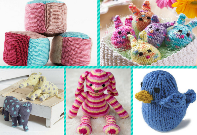 Free Baby Hat Knitting Pattern : 10 (Free) Beginner Knitting Patterns for Fun Toys! Knitting Women