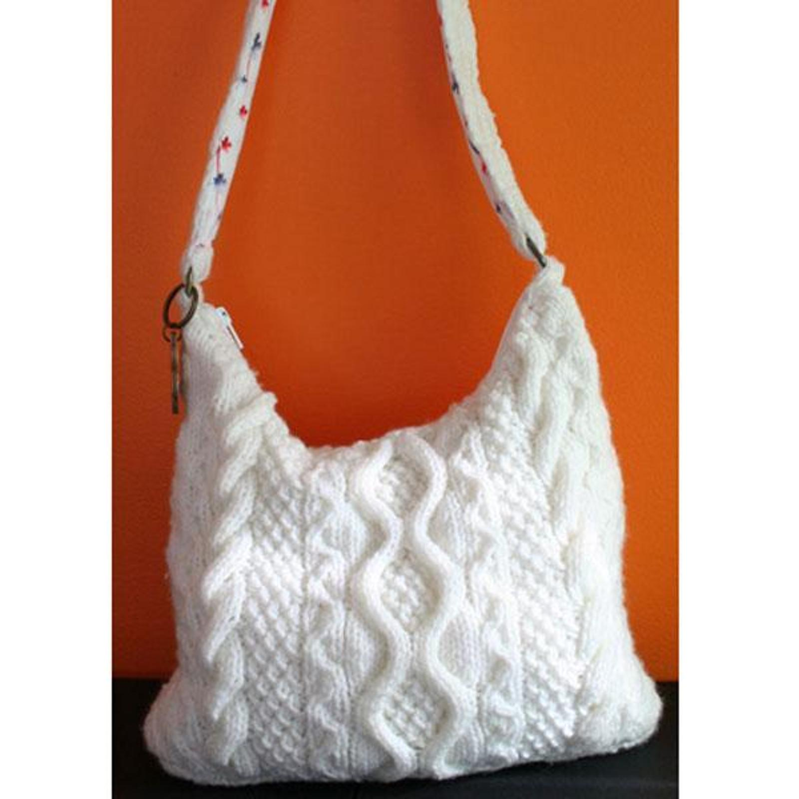 Knitted Tote Bag Pattern : 15 Stylish Bags and Totes to Knit (Free Patterns Included) Knitting Women