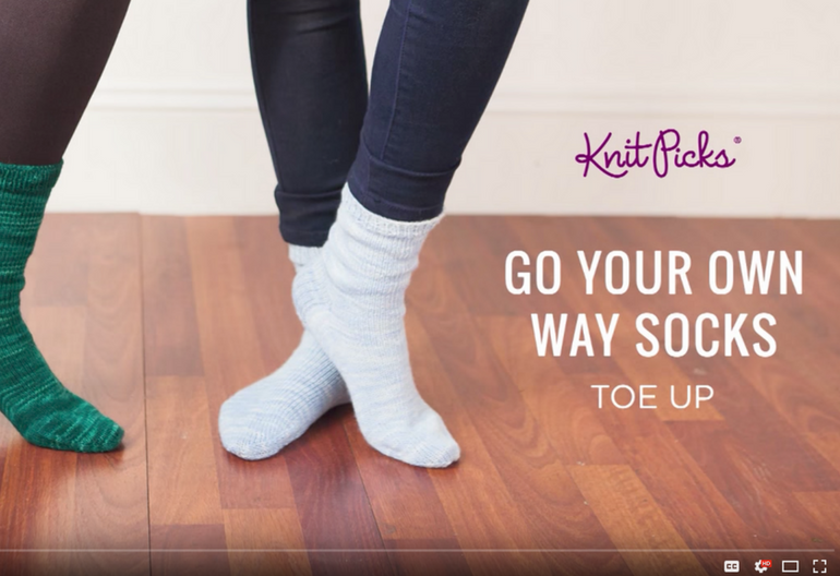 How To Knit Socks From The Toe Up On Video Knitting Women