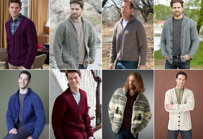 Stylish Men\'s Cardigans: 20 Free Knitting Patterns | Knitting Women