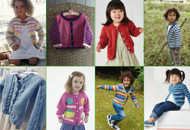 caaef76f0 Cute Cardigans for Children  30+ Free Knitting Patterns