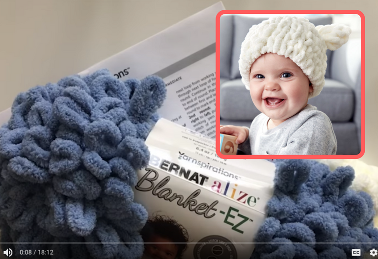 cd81802264f How to Knit the Ez Baby Bear Hat (Video Tutorial + Free Pattern ...