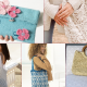 Knitted spring handbags - Free Patterns