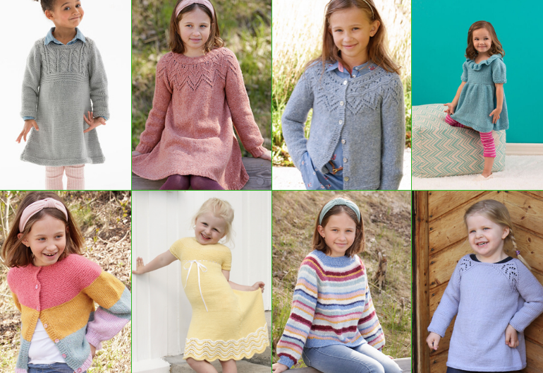 8 Lovely Free Knitting Patterns for Girls' Dresses
