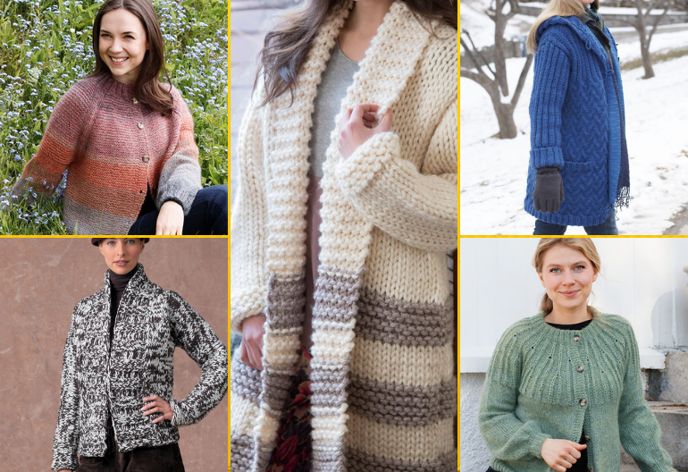 8 Free Knitting Patterns for Women's Jackets