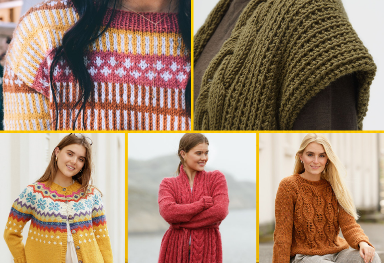 9 Gorgeous Women's Jumpers and Cardigans - Free Patterns