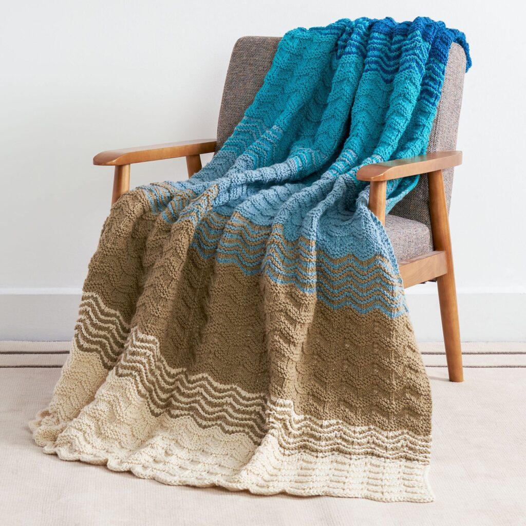 Seaside Sunset Knit Blanket