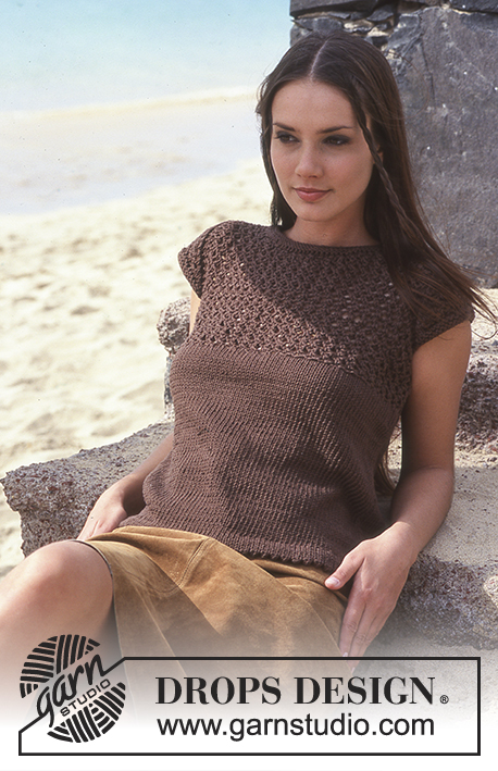Summer Knit Top by DROPS