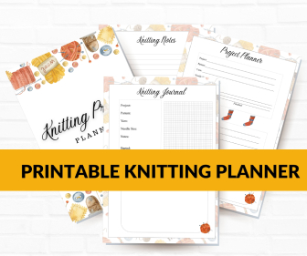 Printable Knitting Projects Planner